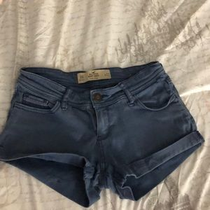 Blue hollister shorts
